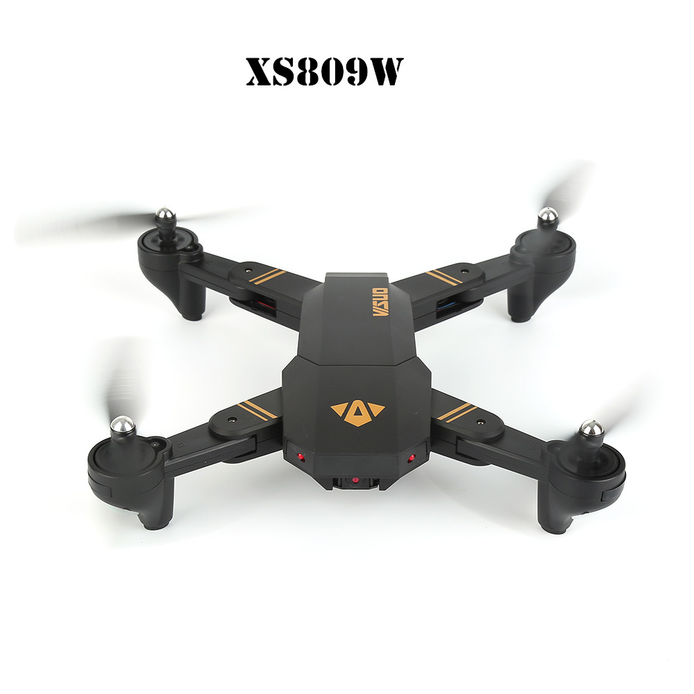 RC Dron Visuo XS809W Mini Foldable Selfie Drone with Wifi FPV 0.3MP Camera Altitude Hold Quadcopter Vs H36 H37 foldable rc quadcopter lh x24 wifi fpv 480p 720p wide angle camera 2 4g selfie drone with led light altitude hold vs xs809w x8w