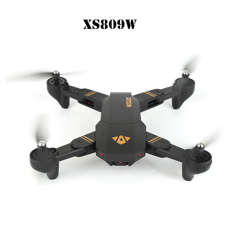RC Dron Visuo XS809W Mini Pieghevole Selfie Drone con Wifi FPV Macchina Fotografica 0.3MP Mantenimento di Quota Quadcopter Vs H36 H37