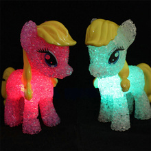 2016 Cartoon Horse My Little Pony Lamp Color Changing Night Light Battery Powed Crystal Novelty Light Christmas Light-up Toys