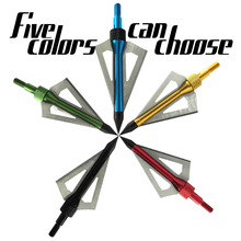 12PC Gold broadhead arrow Bow Shooting 3-blades Universal  100grain Carbon hunting archery use compound bow or crossbow arrows