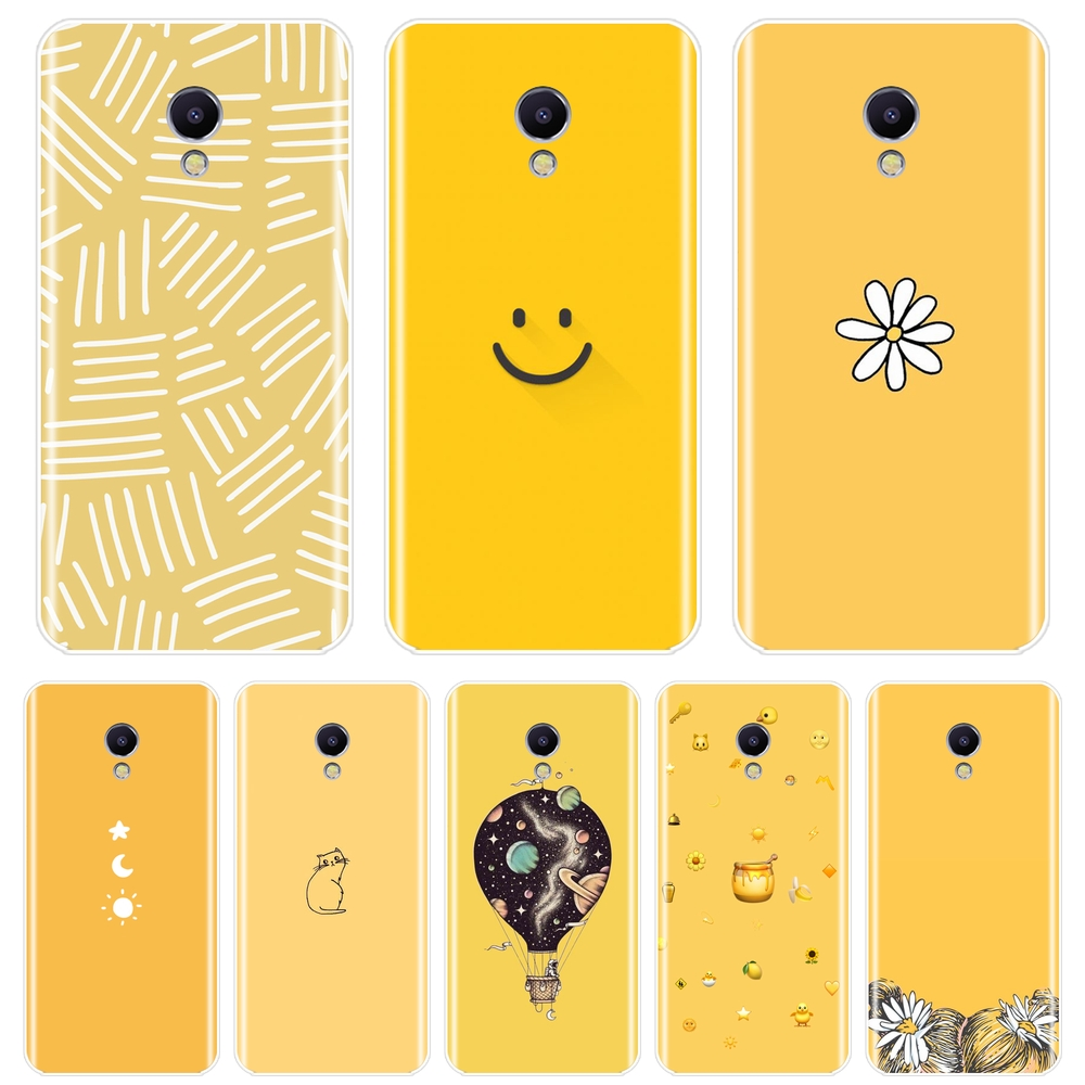 For <font><b>Meizu</b></font> M2 M3 <font><b>M3S</b></font> M5 M5C M5S M6 M6S M6T Phone Case Silicone Yellow Cat Girl Star Soft <font><b>Back</b></font> <font><b>Cover</b></font> For <font><b>Meizu</b></font> M2 M3 M5 M6 Note image