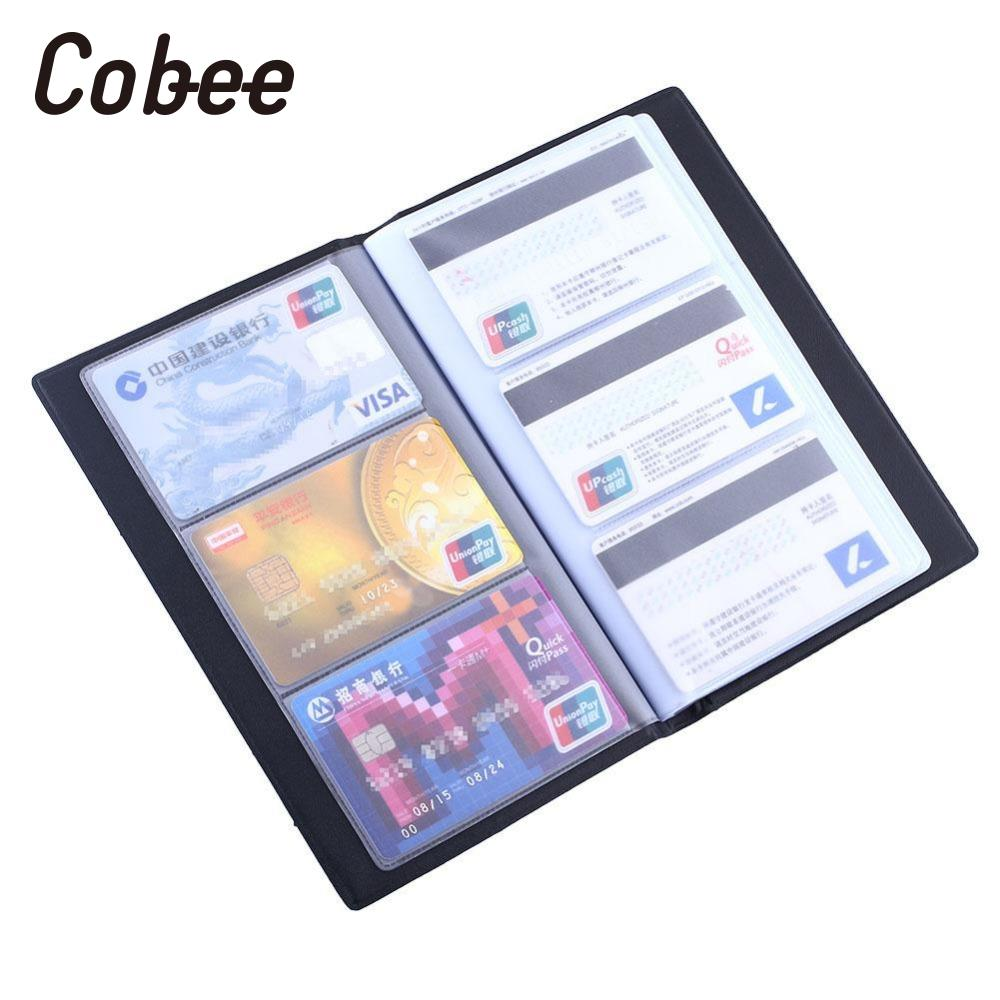 Cobee Business Name Card Holder ID Bank Credit Card Holder Book Case Cover Pouch Bag Holds 300 Name Cards