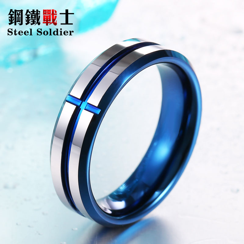 Steel soldier high polish 100% Real Tungsten Fashion 6mm conise Tungsten ring wedding ring top quality men and women jewelry