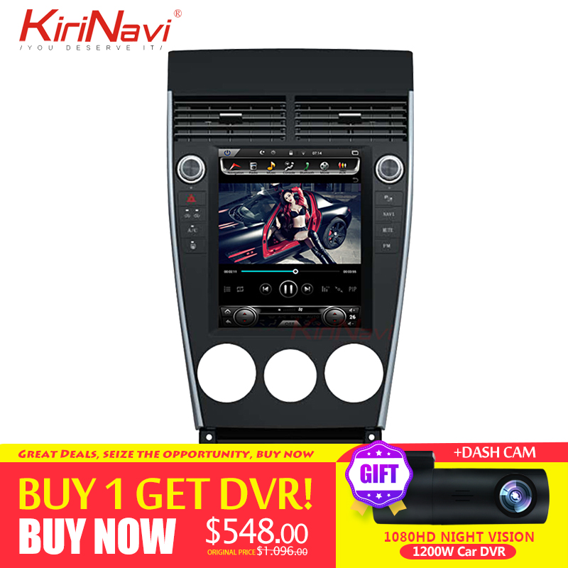 KiriNavi Vertical Screen Tesla Style Android 7.1 10.4inch Touch Screen Car Radio For <font><b>Mazda</b></font> <font><b>6</b></font> <font><b>GPS</b></font> <font><b>Navigation</b></font> Bluetooth 2002-2015 image