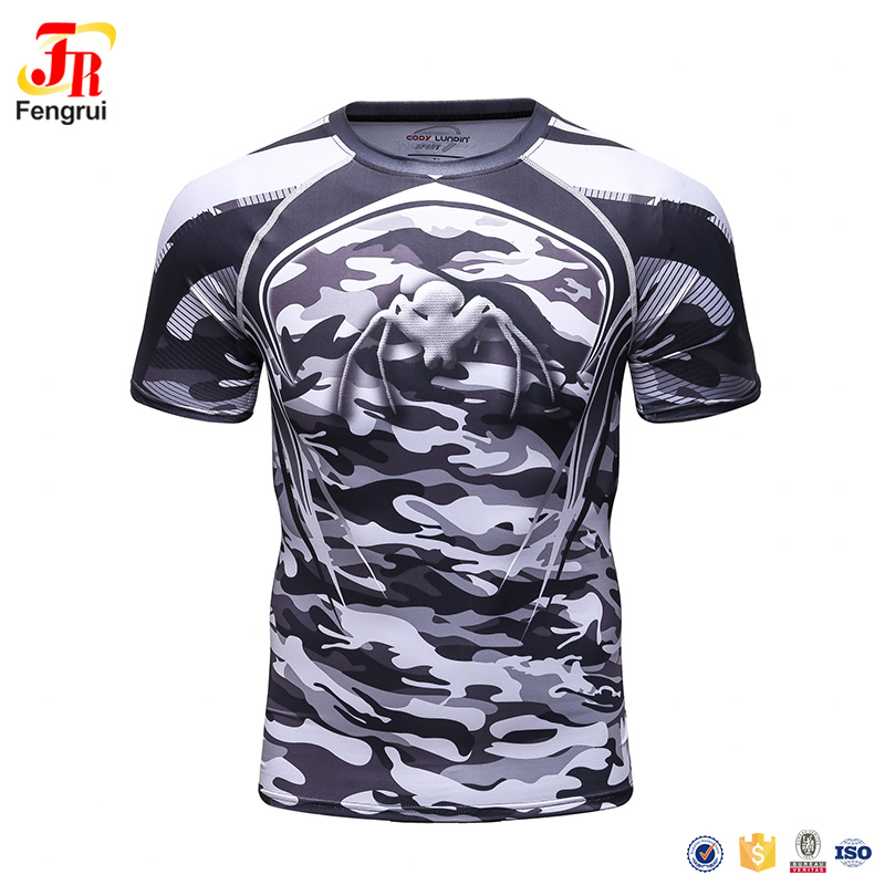 New Compression Shirts Men 3D Printed T-shirts Short Sleeve Cosplay Fitness Body Buildin ...