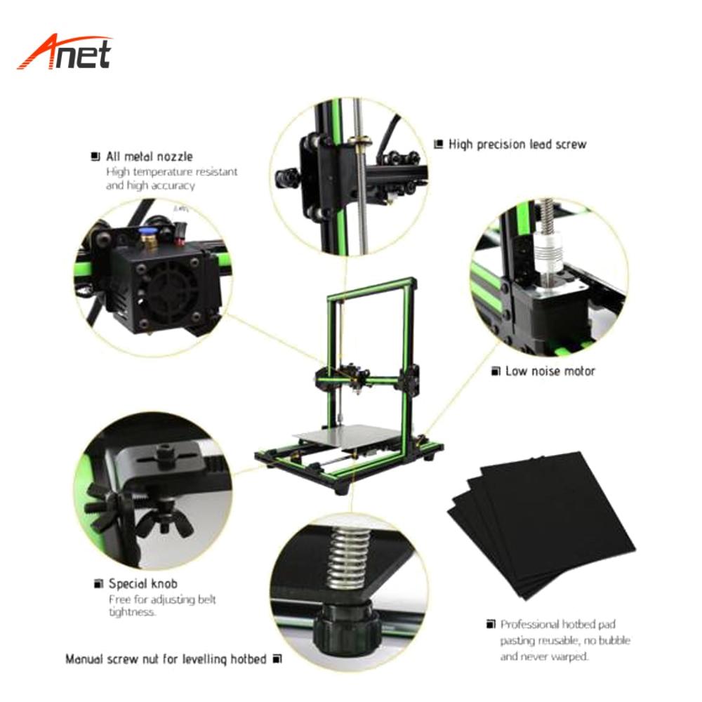 Anet E10 2018 Hot Koop Aluminium Frame DIY 3d Printer Machine 10 minuten te Monteren Gemakkelijk Operationele Impressora 3d Hoge precisie - 4