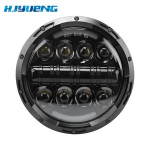 Image 5 - 7 inch LED Headlight Car Angel Eyes DRL Daytime Running Lights for Yamaha Jeep Wrangler Headlamp Car Motorcycle Accessories