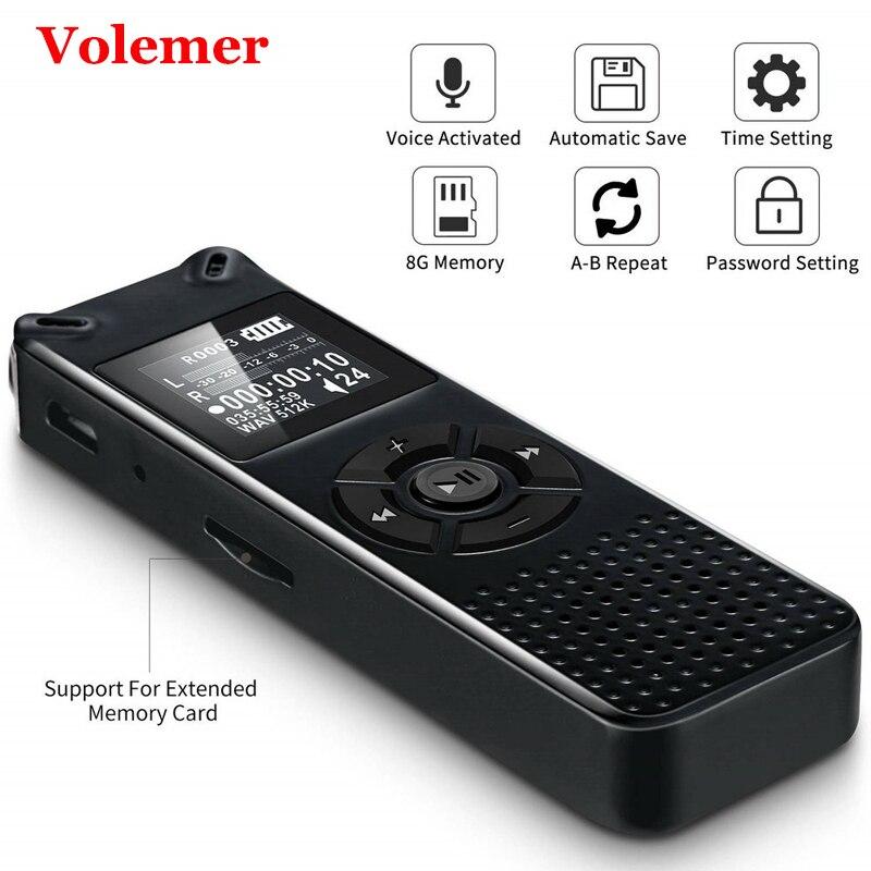 Volemer V91 professionnel enregistreur vocal numérique intelligent Portable Hd son Audio enregistrement téléphonique Dictaphone Mini enregistreur Mp3