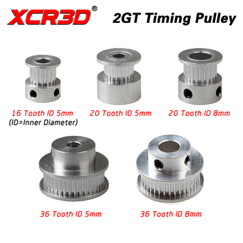 XCR3D 3D Printer Part 2GT Timing Pulley GT2 synchronous belt 2GT Belt pulley 16 36 20teeth 20T Bore 5mm 8mm Aluminum alloy Gear xl60 60 tooth timing pulley aluminum 3d printer parts 60xl 60teeth bore 6 8 10 12 14 15 17mm width 11mm synchronous wheel gear