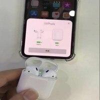 Новые w1 чип 1:1 Airps батареи всплывающее мини Беспроводной подключения Bluetooth наушники и наушники для iPhone 7 8 X XS Max Pad