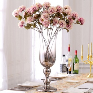 Image 3 - ประดิษฐ์ Dahlia Stem Faux Spider Dahlia ดอกไม้ผ้าไหมคุณภาพสูงดอกไม้บ้านงานแต่งงานตกแต่งสำนักงาน