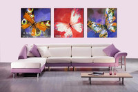diamond embroidery 3d flowers picture with rhinestones Three butterflies painting by numbers paint cross stitch pattern beadwork