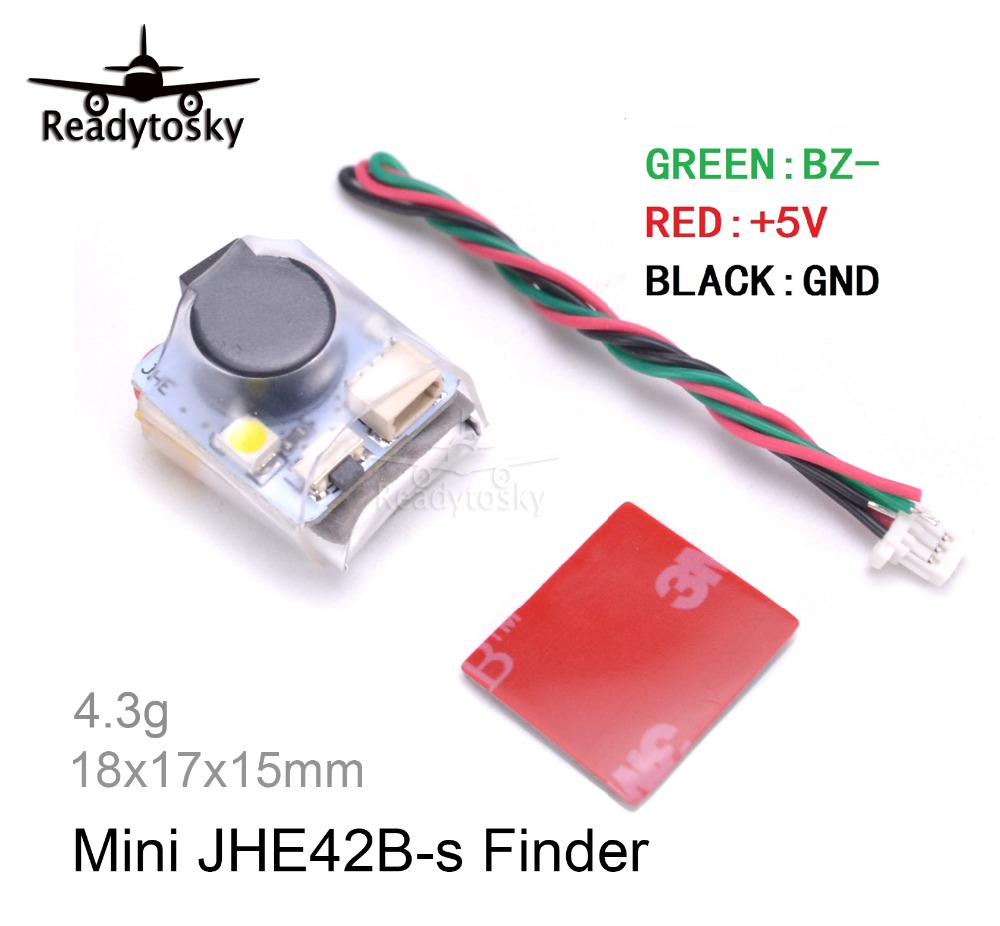 NEW Mini JHE42B-s Finder 5V Super Loud Buzzer Tracker 100dB With LED Buzzer Alarm For FPV Racing Drone Flight Controller