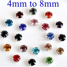 Glass Rhinestones! Round Shape With Claw Sew On Crystal Stone Strass Diamond Metal Base Buckle For Clothes Decorating 17 Colors! drop shape glass rhinestones with claw crystal ab sew on crystal stone strass diamond metal base buckle wedding decoration