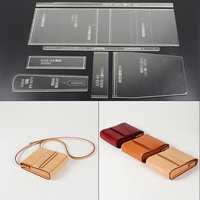 1 Set Shoulder Bag Acrylic Leather Handbag Template Leathercraft Sewing Pattern DIY Hobby