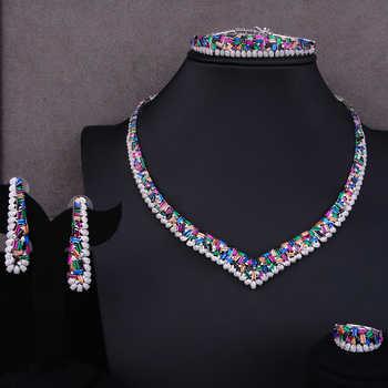 GODKI Famous Brand Charms Luxury 4pcs Satement Nigerian Dubai Jewelry Sets For Women CZ Zircon Wedding Bridal Jewelry Sets 2019 - DISCOUNT ITEM  32% OFF All Category