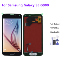 For SAMSUNG Galaxy S5 LCD G900F G900M G900A G900T Display Touch Screen Digitizer Home Button Black Color