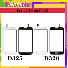 10Pcs/lot For LG Series III L70 Single SIM D320 Dual D325 Touch Screen Panel Sensor Digitizer Front Glass Touchscreen