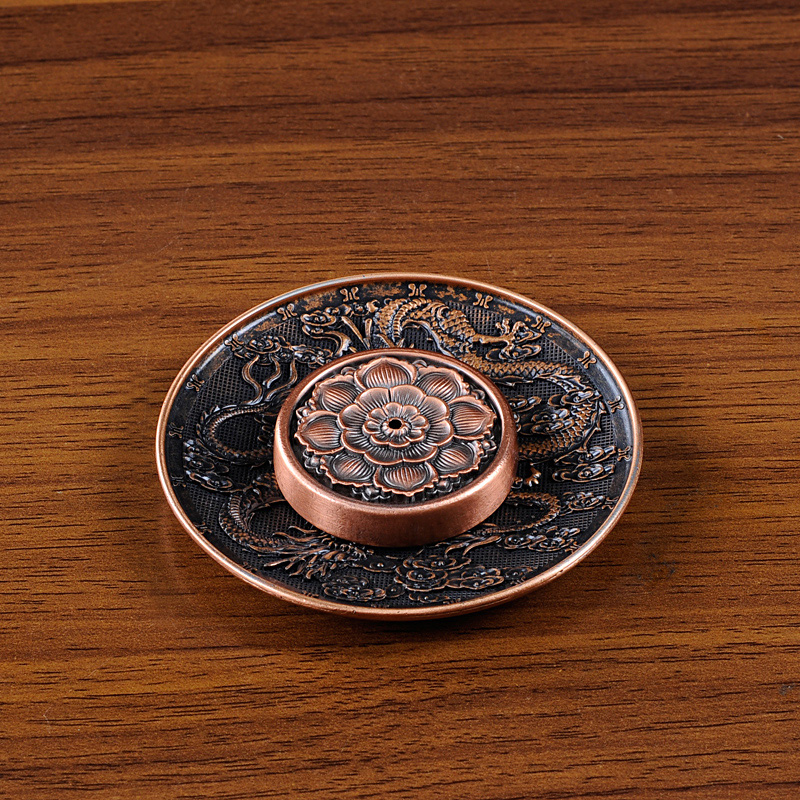 PINNY Imitation Bronze Incense Burner Lotus Dragon Quemador Incienso - Hiasan rumah - Foto 5