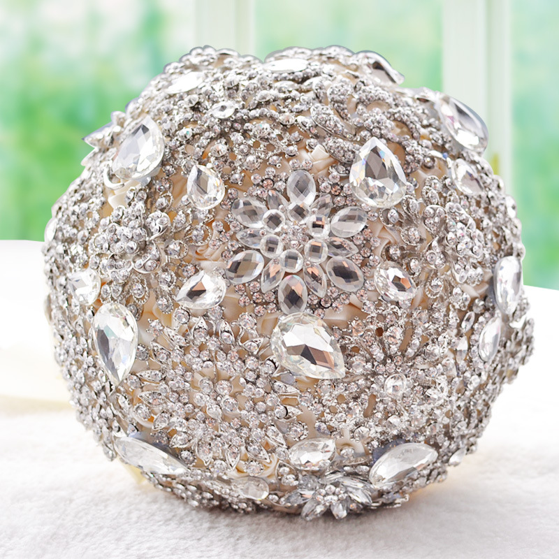 2016 새로운 럭셔리 웨딩 브 로치 꽃다발 인공적인 석조 신부 신부 들러리 승 / 다이아몬드 크리스탈 결혼식 액세서리 D449