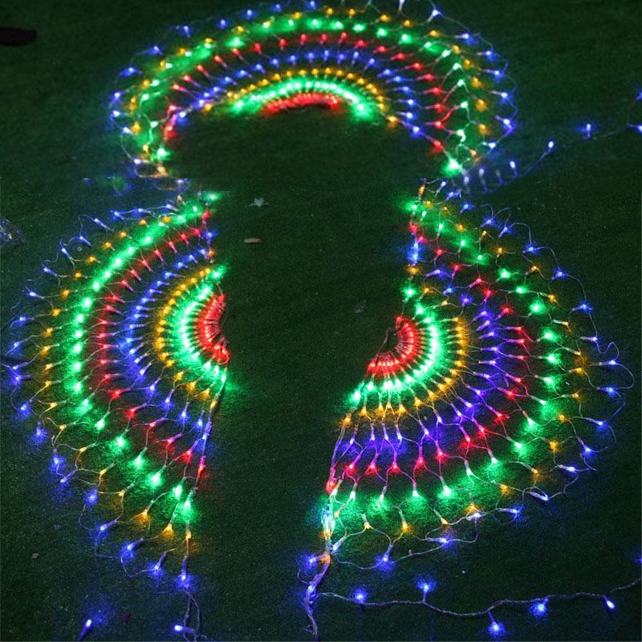 BEIAIDI 3M 444 LED Mesh Net Fairy LED String Light 3PCS Peacock Outdoor Christmas Wedding Window Icicle LED String Light Garland beiaidi 3m 444led 3pcs peacock christmas mesh net fairy led string outdoor wedding window icicle fairy string light garland
