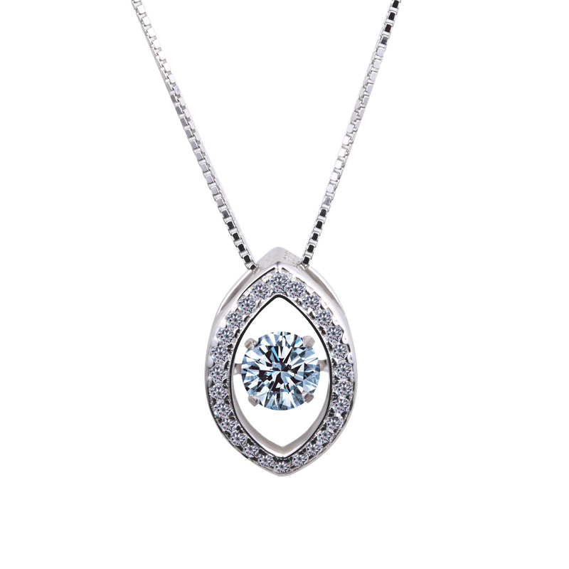 gcbl12 for kim Europe and United States genuine S925 Sterling Silver Pendant Necklace explosion smart Dance