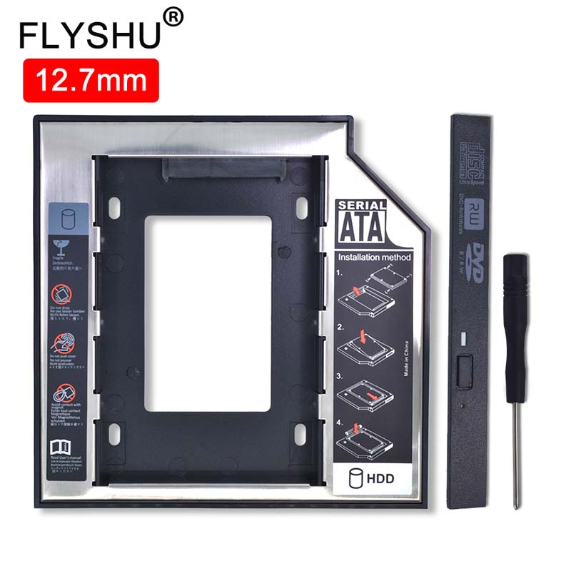 Universal Aluminum 2nd HDD Caddy 12.7mm SATA 3.0 For 2.5