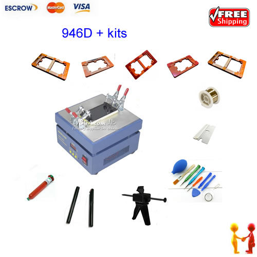 FREE SHIPPING Screen repair machine Kit LY 946D LCD Separator For 5 inch Mobile screen, 12 in 1 separate machine костюмы