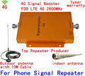 Full Set 4G FDD LTE 2600MHz Mobile Phone Signal Repeater 4G 2600 65dB Gain Cellphone Amplifier Repetidor 2600MHz For Home