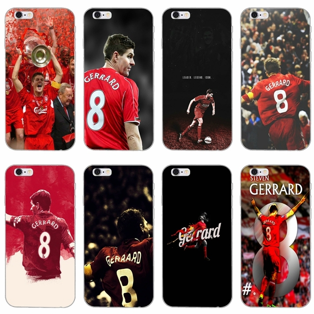 more photos 84e31 8f966 US $1.99  footballer Steven Gerrard 8 slim silicone Soft phone case For  Samsung Galaxy S3 S4 S5 S6 S7 edge S8 S9 Plus mini Note 3 4 5 8-in Fitted  ...