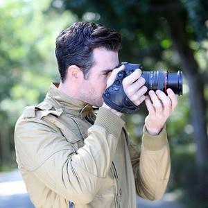 JJC Beste Echtes Leder Hand Grip Strap Digital Kamera Handgelenk Gürtel Für Nikon D800 D3X D700 D300 D300S D5000 D200 d80 D60 Als AH-4