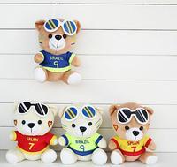 20 cm Cute Misia Okulary Niedźwiedź Miękkie Pluszaki Zabawki dla Dzieci