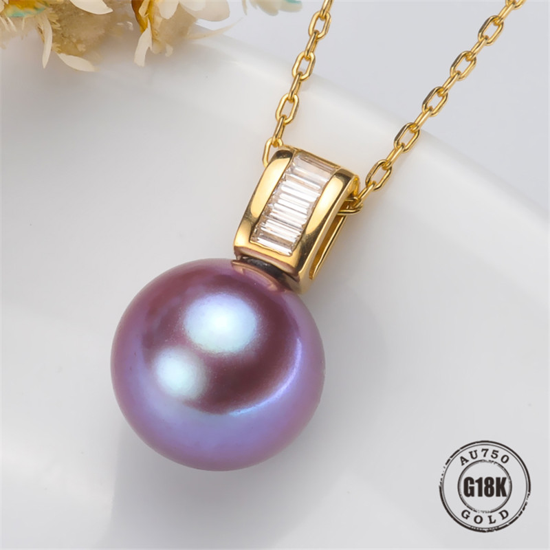 DIY Pendant Jewelry Findings Blank Pendants Bracket AU750 G18K Yellow Gold Simple Bracket Natural Pearl Cap AccessoriesDIY Pendant Jewelry Findings Blank Pendants Bracket AU750 G18K Yellow Gold Simple Bracket Natural Pearl Cap Accessories