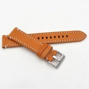Image 5 - Ремешок из натуральной кожи для наручных часов, черный темно коричневый сменный Браслет для фирменных часов, 18 19 20 21 22 23 мм