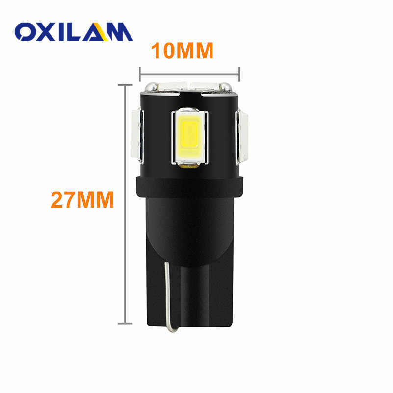 Oxilam 4x t10 w5w 194 led電球車のインテリアライト用ヒュンダイsolarisアクセントi30 ix35サンタフェエラントラ用起亜リオ3 k2