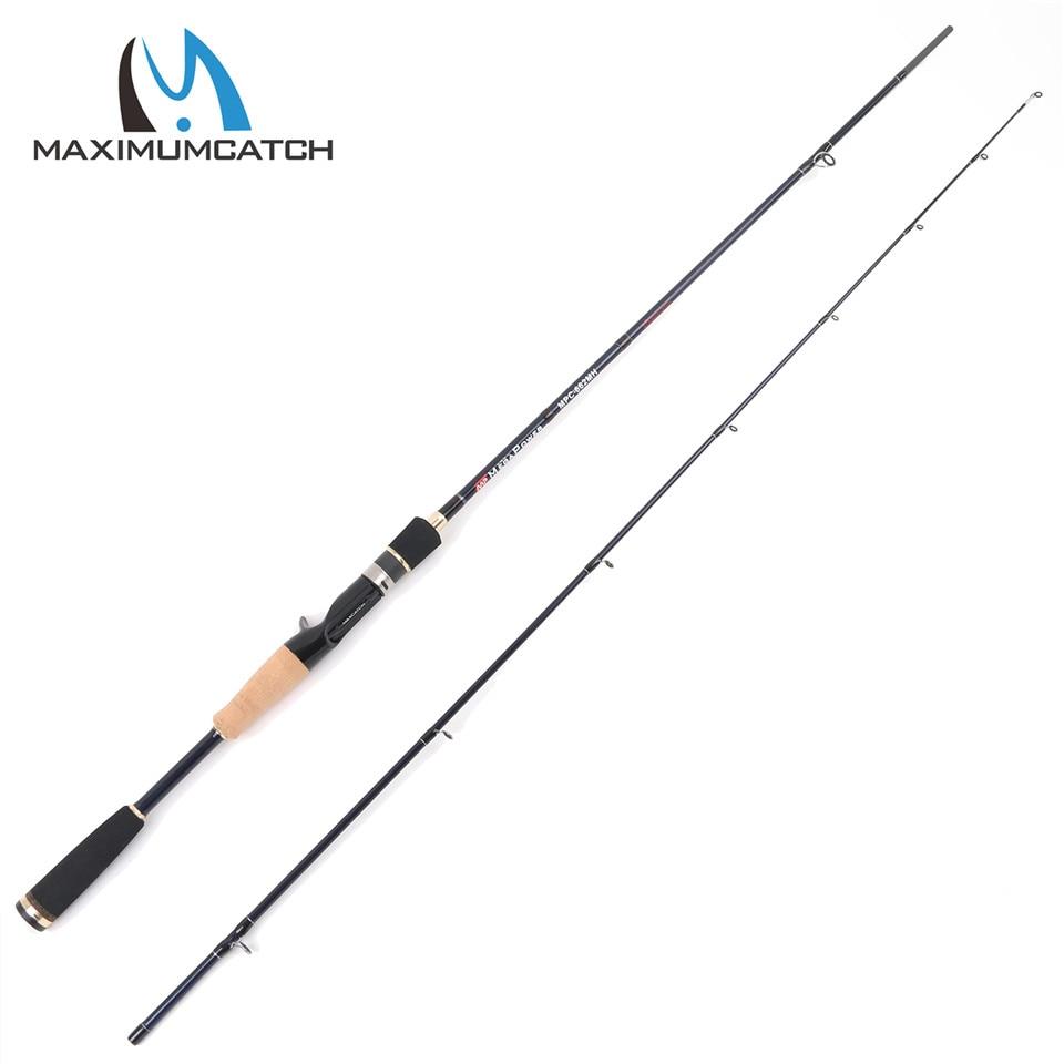 Maximumcatch 66 24T/IM6 Carbon Fiber Casting Fishing Rod MH 12-20lb Fast Action Megapower Casting Rod 2pcs Fishing Rod
