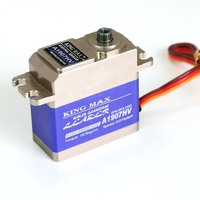KINGMAX A1907HV digital high voltage brushless servo metal gear full CNC aluminum case for RC airplane