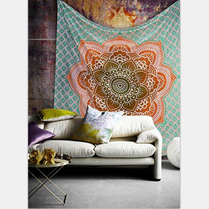 Celestial Sun Moon Tapestry Throw Psychedelic Indian