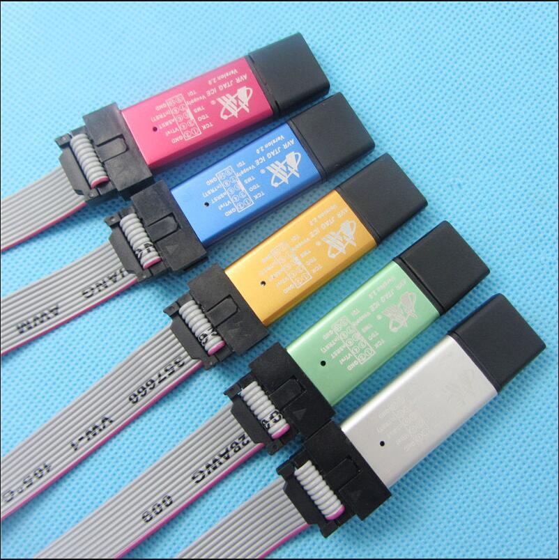 AVR JTAG ICE emulador de programador de descarga USB (carcasa de aluminio + protección contra sobrecorriente + gran voltaje + Chip de amortiguación + Cable)