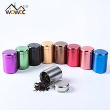 WOWCC чайный Caddy мини алюминиевые ящики для хранения герметичные кофейные баночки для порошка контейнер для чайных листьев портативный дорожный органайзер для чайных коробок