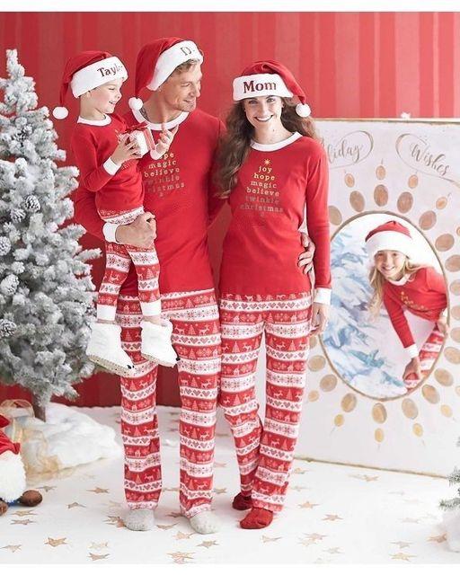 Семьи Соответствия Пижамы Взрослые Дети Мужчины Папа Одежда Рождество Пижамы Пижамы Пижамы Установить Новые Люди Размер