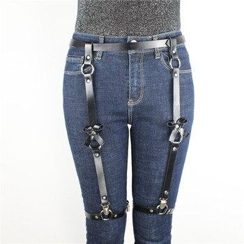 Leather Harness Garter Belt  3