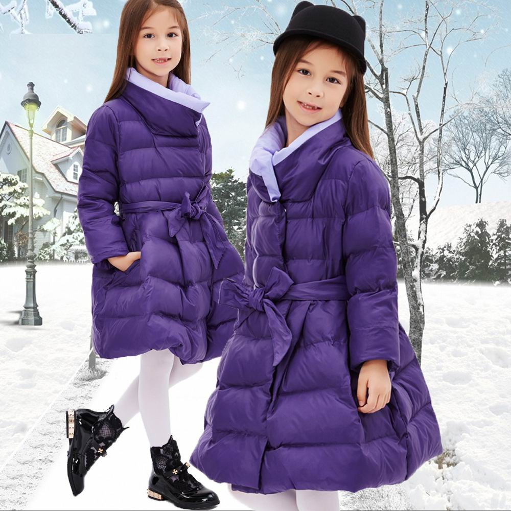 Girl's winter jacket down Jackets Coats 2016 NEW warm Kids baby thick duck Down jacket Children Outerwears cold winter светильник садовый старт бабочки