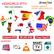 IPTV Spain 4K M3U Subscription 1 year code Spanish Sports Portugal Germany UK Poland USA Android Smart TV Box V8 Receiver Xtream(China)