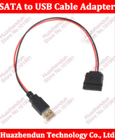 100pcs 20CM 2.5inch SATA hard drive power supply cable USB to SATA power cable SATA notebook hard drive USB