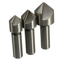 2 Sets Lot 3pcs 10 12 16mm HSS Countersink Drill Bit Set Chamfering Cutter
