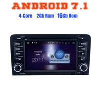 Quad Core Android 7 1 Car Dvd Gps Player For Audi A3 S3 With 2G RAM