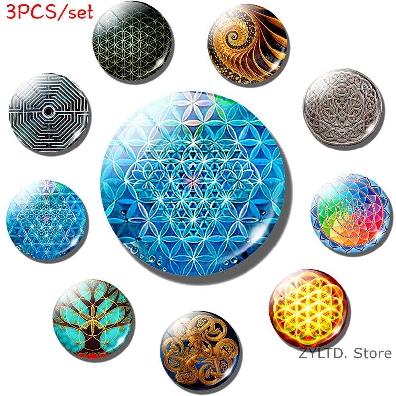 Buddha Light Mandala Art Two Sided Circle Window Sticker Free Postage!