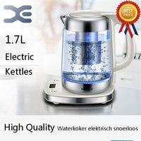 Water Heater Kettle 1.7L Electric Kettle Automatic Power Off Glass Kettle Waterkoker Elektrisch Snoerloos
