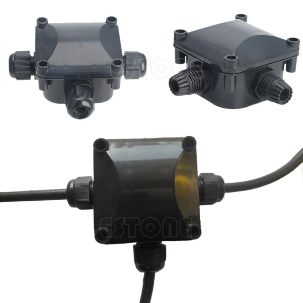OOTDTY J34 IP 68 Waterproof Protection Building DTY Connectors 3 Cable Wire Junction Box